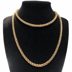 JOAN RIVERS GOLD TONE WHEAT SPIGA CHAIN NECKLACE
